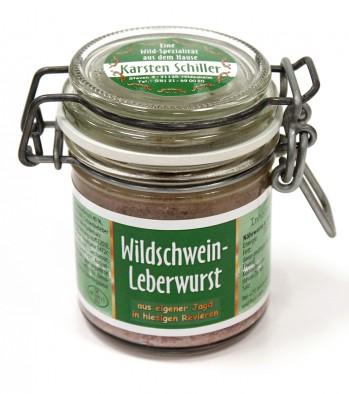 Wildschweinleberwurst Glas
