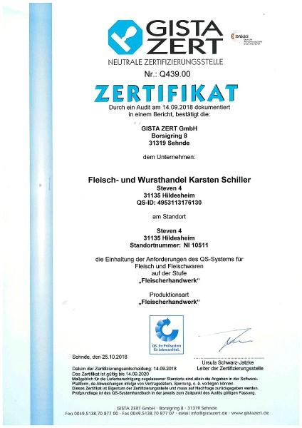 QS Zertifikat Schiller